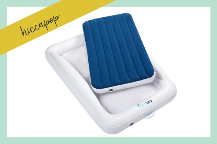 Ditch the bulky pack and play! We compare 6 of the best portable toddler travel bed options for little adventurers. #familytravel #travelwithkids #toddlertravel #traveltips #toddlerbed #familytravelblog // Family Travel Tips | Portable Toddler Beds | Toddler Travel Beds | Airbeds for Kids | Air Mattress for Toddler | Sleeping Tent | Inflatable Beds for Kids | Toddler Bed Reviews | Shrunks | KidCo | hiccapop | AeroBed | ReadyBed