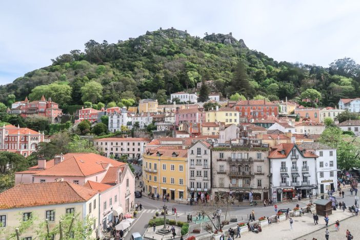 See the best of Sintra, Portugal in just one day with this self-guided itinerary for the perfect Sintra day trip from Lisbon. #sintra #portugal #lisbon #europewithkids #familytravel // Sintra Day Trip Itinerary | Must-See Sintra Castles and Palaces | Self-Guided Tour of Sintra | Sintra Map | Best Day Trips from Lisbon | How to Get to Sintra from Lisbon | Where to Buy Tickets for Sintra | Pena Palace | Quinta da Regaleira | National Palace of Sintra | Moorish Castle