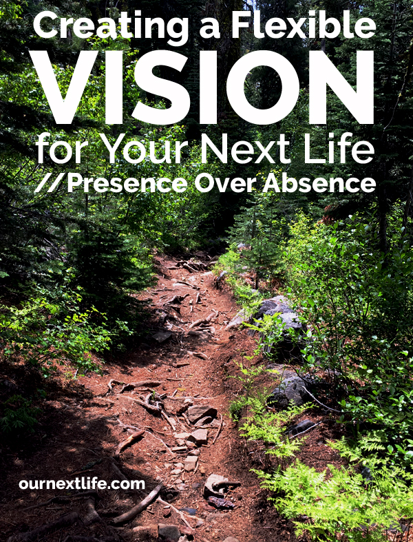 OurNextLife.com // Creating a Flexible Vision for Your Next Life / Life Vision in Early Retirement / Post-Retirement Life Planning