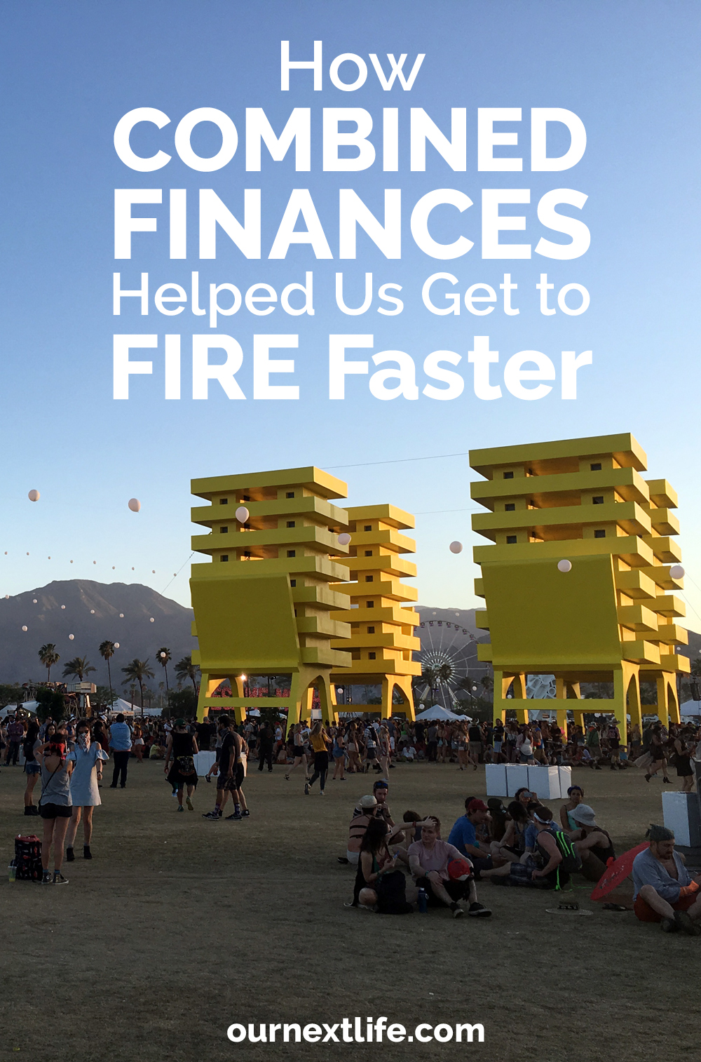 OurNextLife.com // How Combined Finances Helped Us Get to FIRE Faster // We're big believers in combined finances *for us* (though maybe not for everyone!) // Married finances, money management for couples, couples' finances