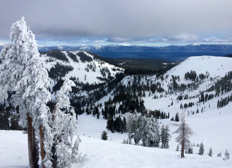 Alpine Meadows, CA, with view of Lake Tahoe