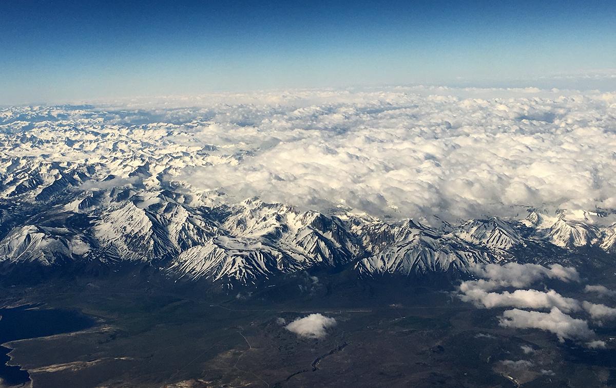 Sierra Nevada range from the air