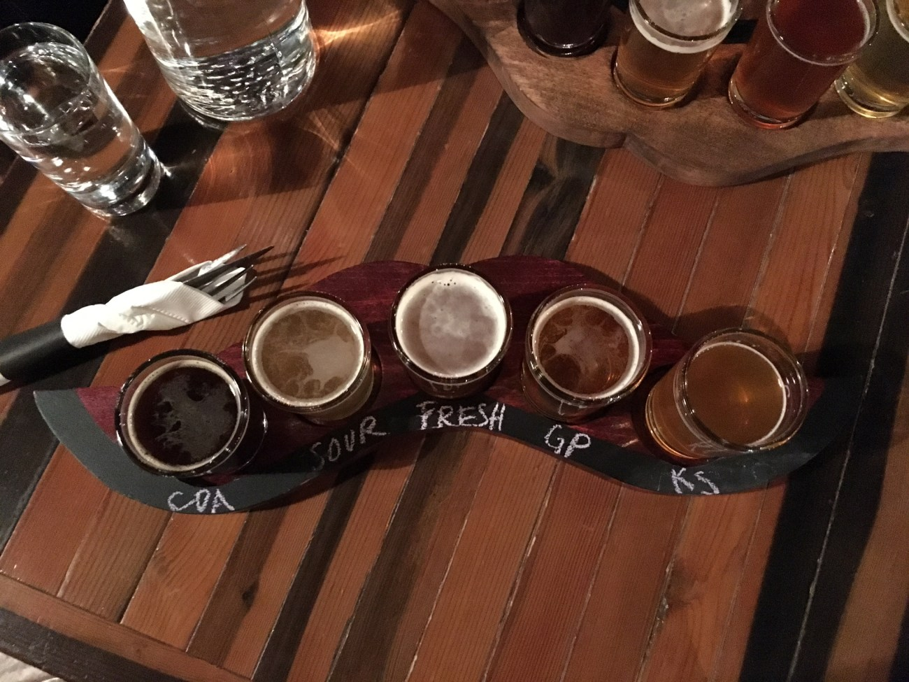 Flight of gluten-free beers at Ghostfish taproom in Seattle // Our Next Life