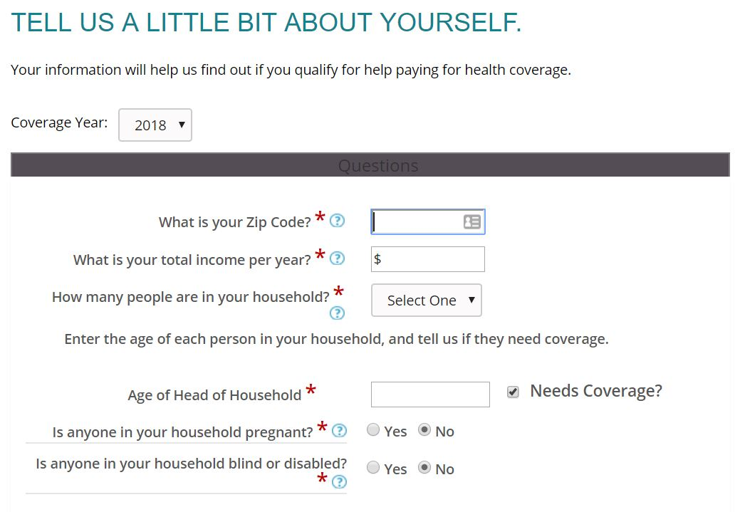 Covered California estimation tool, for estimating cost and coverage of health insurance plans from the exchange