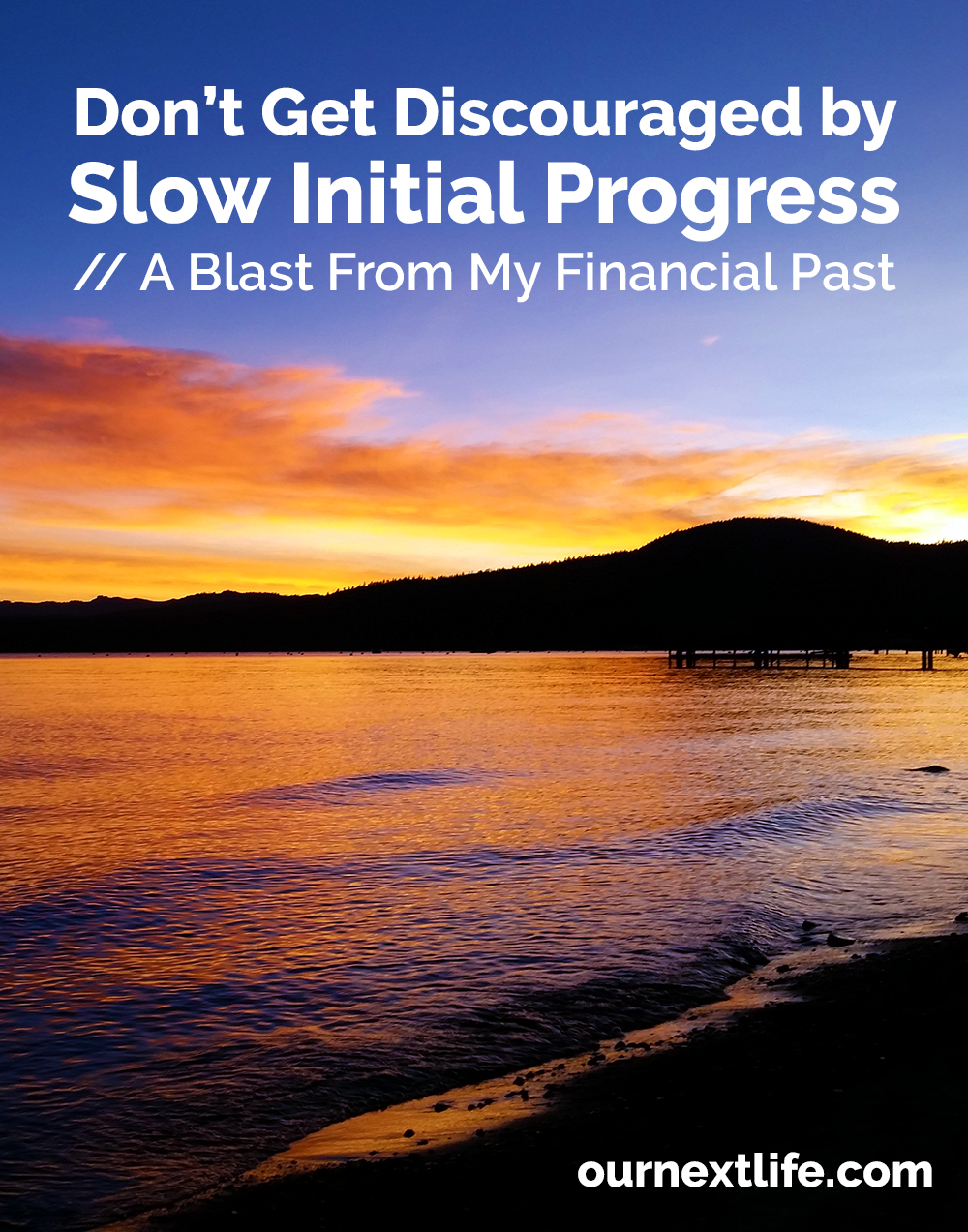 Don't get discouraged by slow initial progress toward early retirement, financial independence or other large money goals! Your progress will speed up over time!