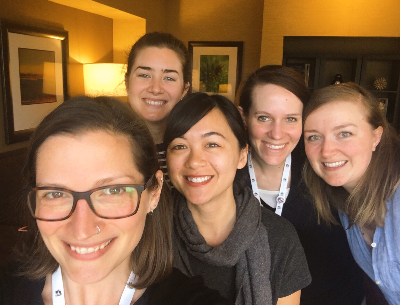 Kristin Wong, Erin Lowry, Liz Thames, Cait Flanders and Tanja Hester at FinCon17