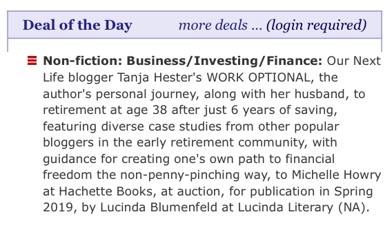 Publishers Weekly deal of the day