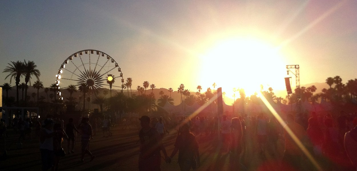 Coachella at golden hour