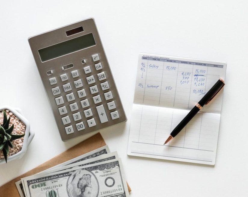 Calculator, Checkbook Register, and Money