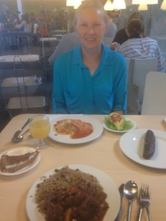 Traditional Dominican lunch at a traditional Swedish store - go figure!