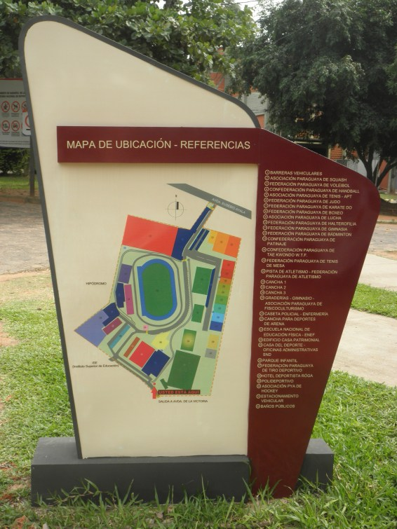 Map of National Sports Park