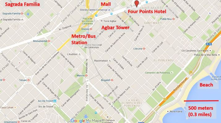 Four Points by Sheraton and surrounding area