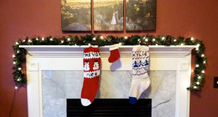 And NO, this stocking is not an announcement! It's for our dog.