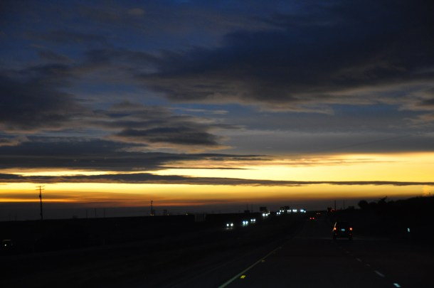 road trip sunrise interstate 5 california