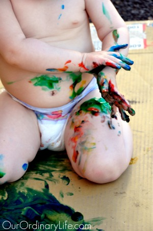 brooklin messy finger paint