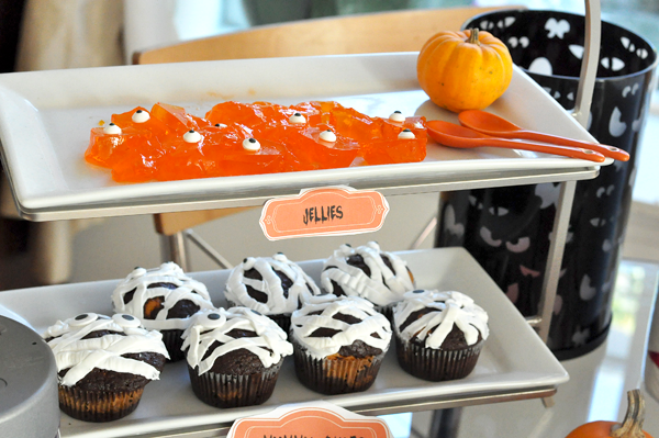 Target Halloween Party jellies mummy cakes