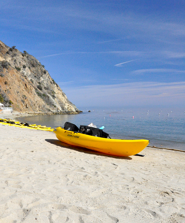 Catalina Island Beach: Kayaking On Catalina Island In The Pacific Ocean