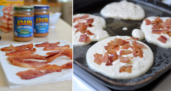 Peanut Butter Maple Syrup Bacon Pancakes (4)