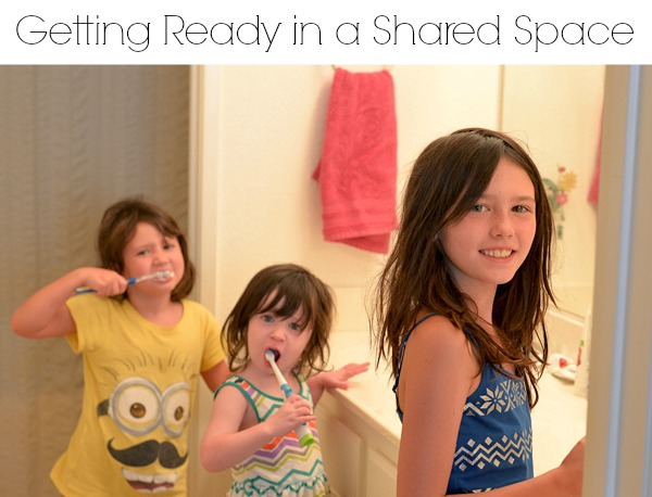 getting ready in a shared space