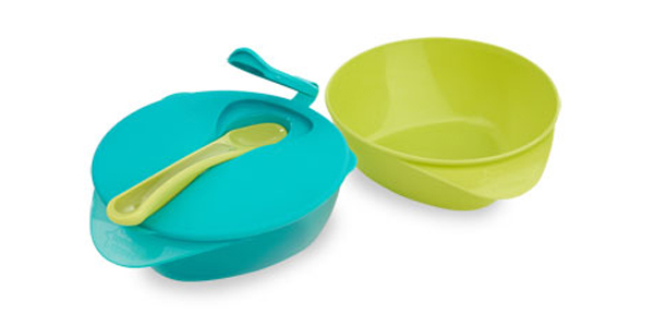 Easy Scoop Feeding Bowls With Lid and Spoon