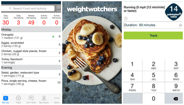 weight watchers app screenshot