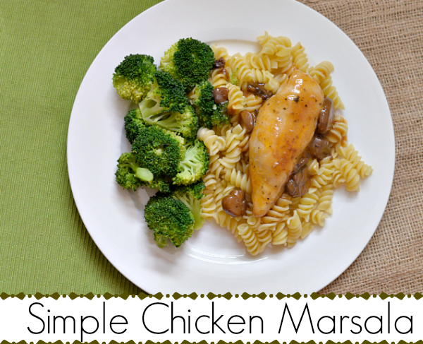 Simple Family Meals - Campbell's® Chicken Marsala Skillet Sauce #CampbellsSauces