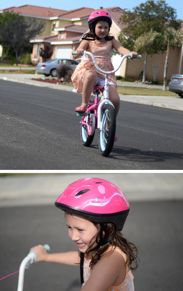 Brooklin 6 Year Old Riding Girls Hello Kitty Bike