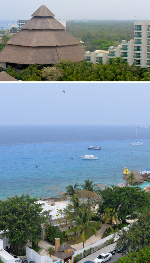 Park Royal Cozumel Mexico View From Balcony Palapa Ocean Views