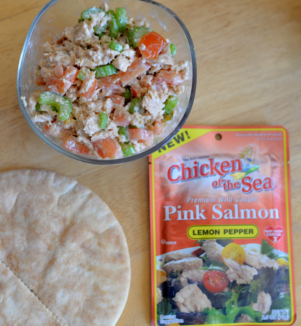 Chick Of the Sea Pink Salmon Lemon 5 ingredient recipe pita sandwich ideas (3)