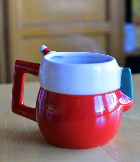 coffe cup with steam
