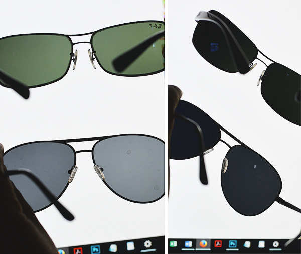 how to tell if glasses are polarized