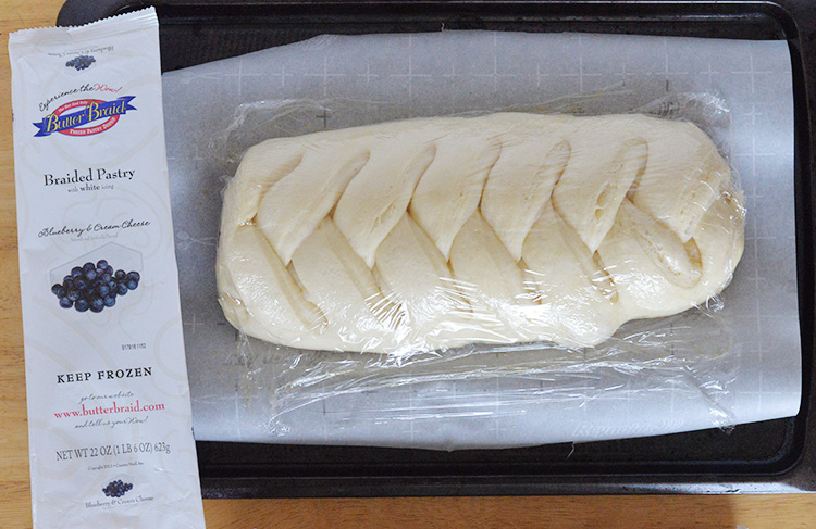 butter braid braided pastry before oven rising