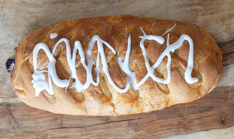 butter braid with icing fluffy braided bread dessert
