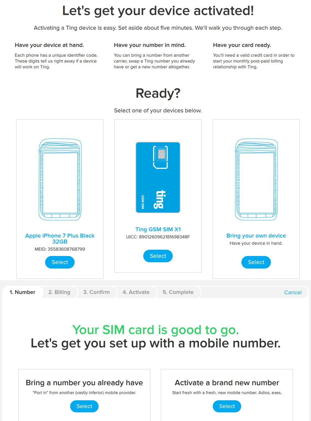 how to activate ting mobile phone