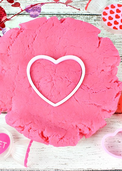 DIY Bubble Gum Scented Valentine Playdough