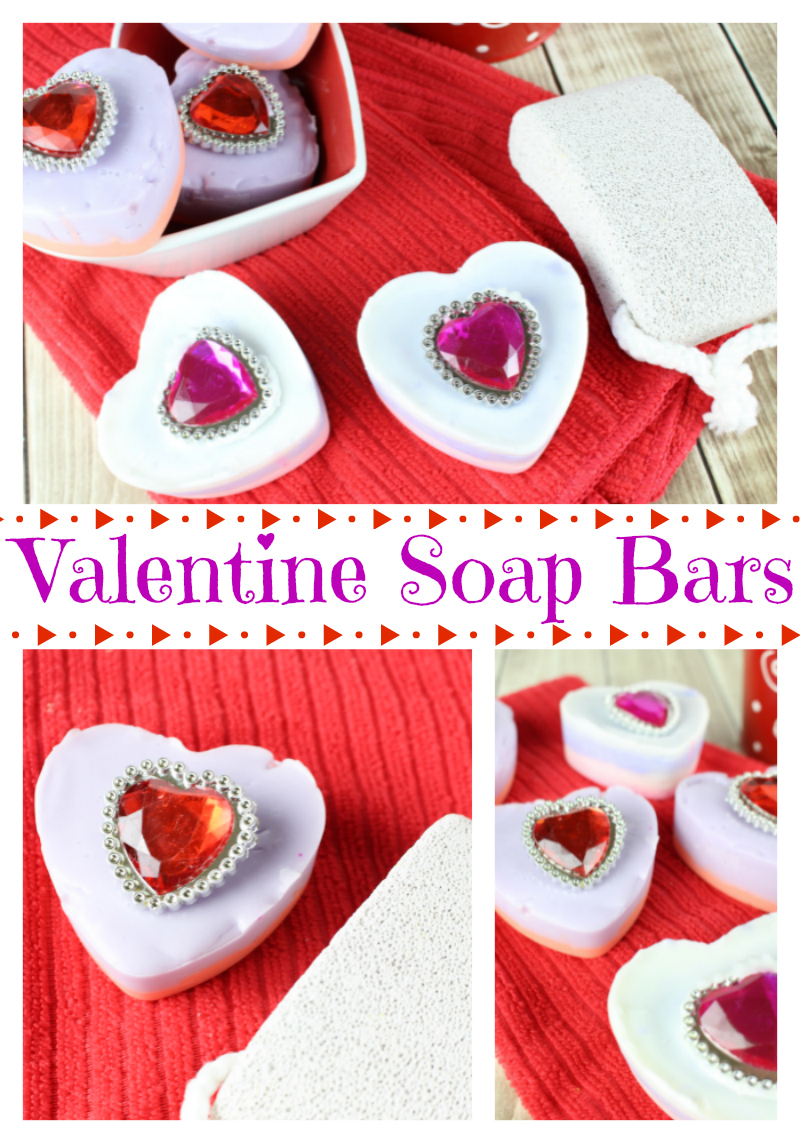DIY Valentine Bling Soap