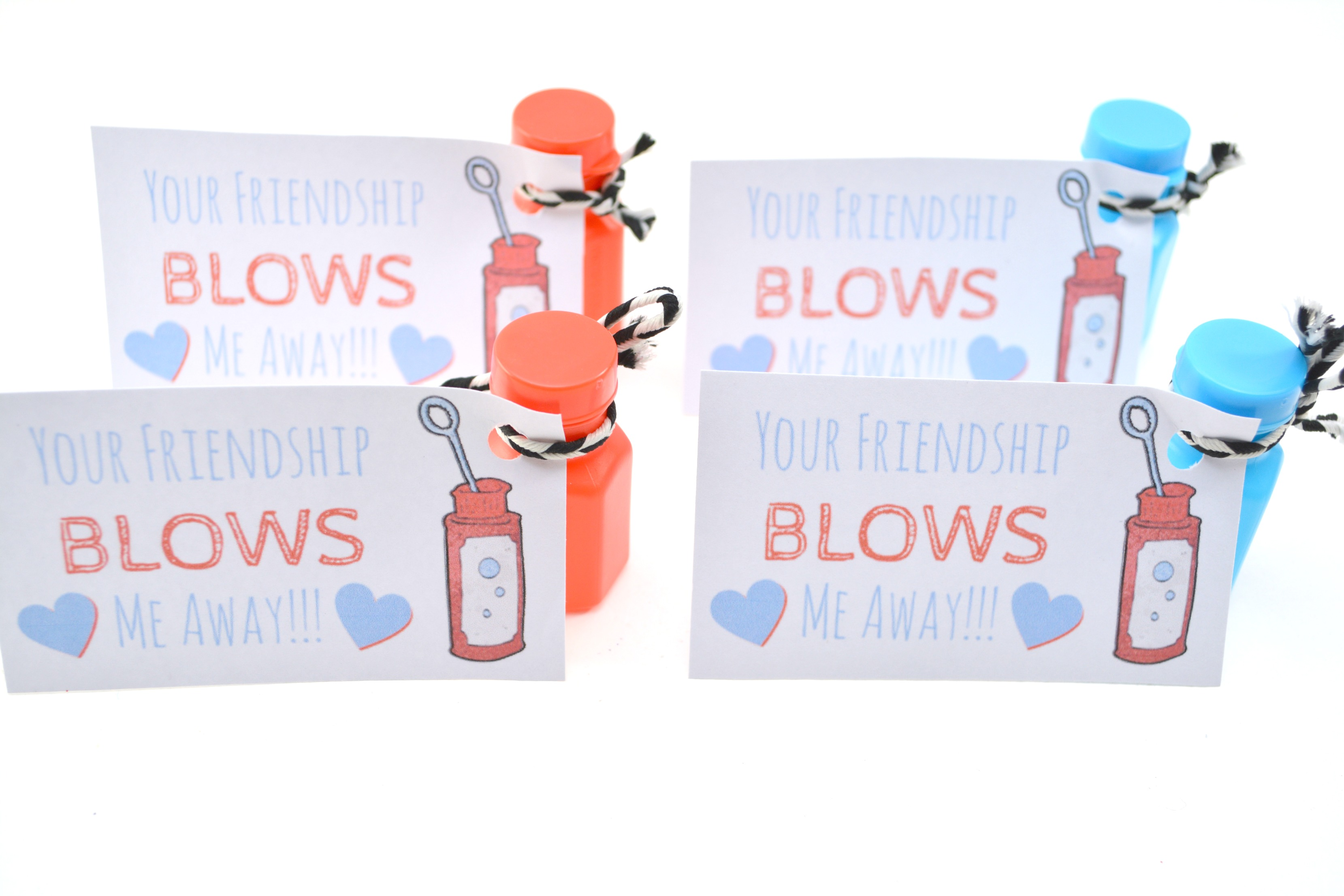 picture about You Blow Me Away Valentine Printable referred to as Do-it-yourself Valentine: Your Friendship Blows Me Absent No cost