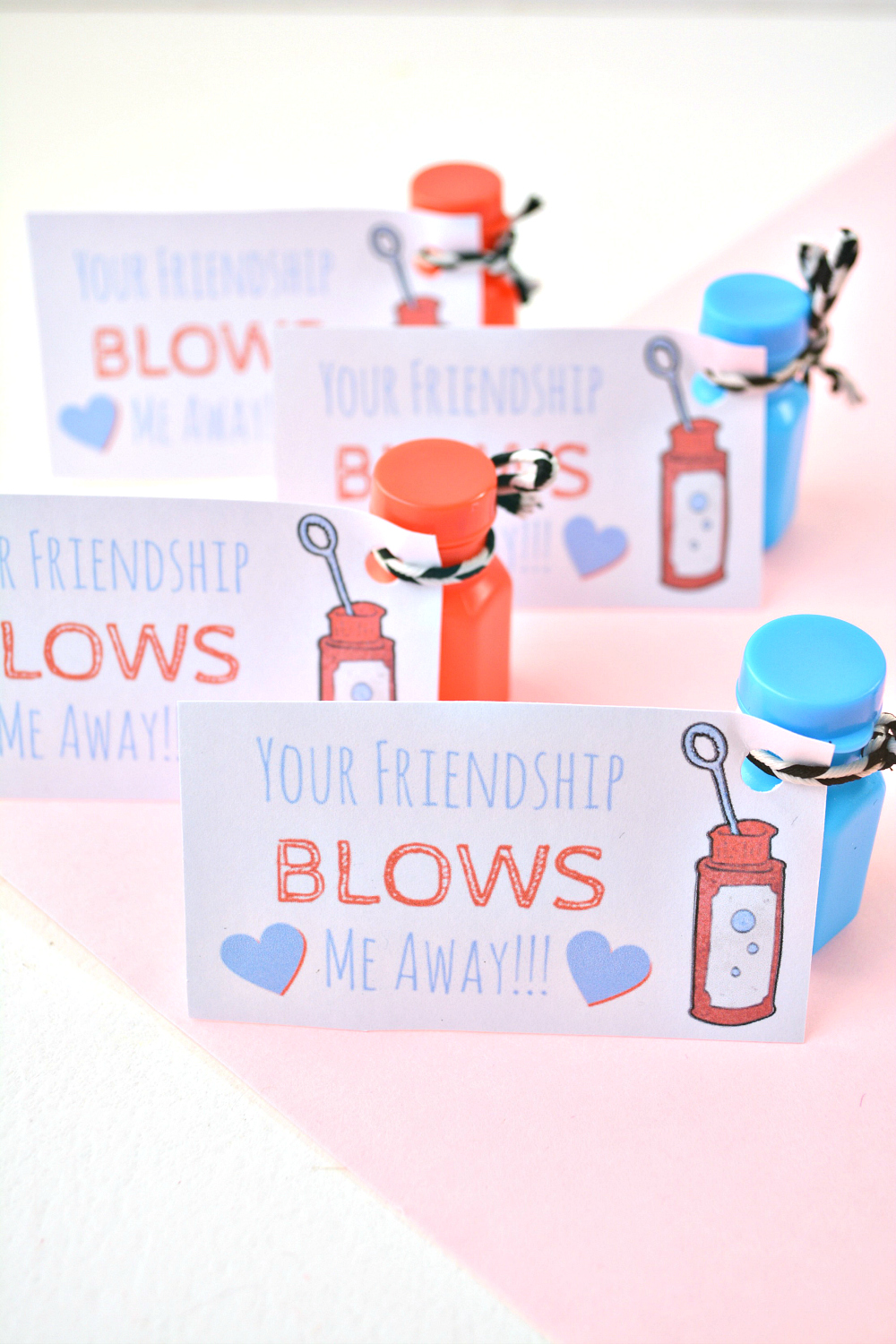 Handmade Valentine: Your Friendship Blows Me Away FREE Printable