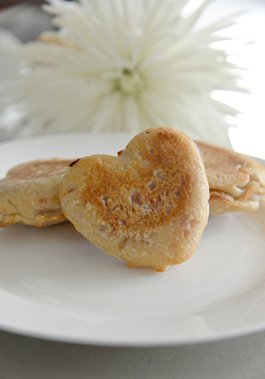 heart shaped pizza pockets for valentine's day