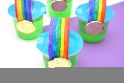 Rainbow Jello Cups For St. Patrick's Day