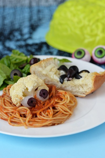Halloween Dinner Idea - Eyeball Spaghetti
