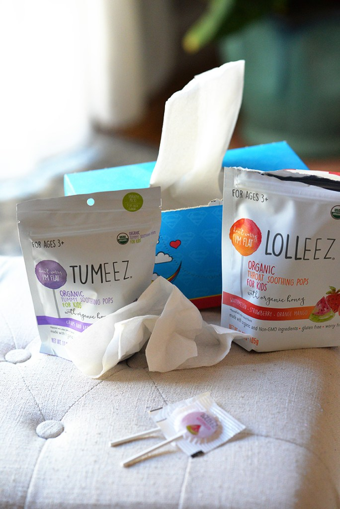 Lolleez organic soothing pops cold season kids sick