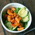 Roasted Maple Glazed Sweet Potato Salad healthy easy