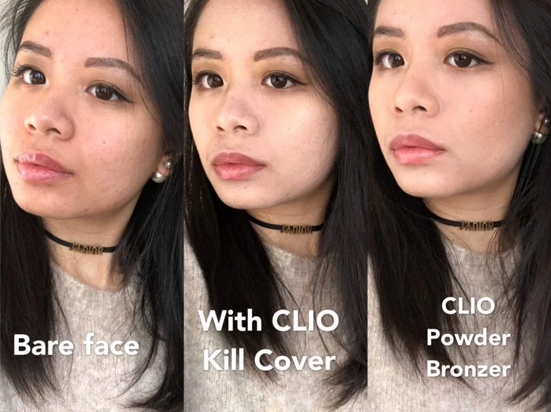kem nền cushion clio kill cover swatch review