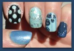 Before stamping my thumb