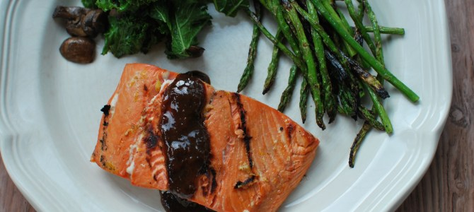 Marinated, Grilled Salmon