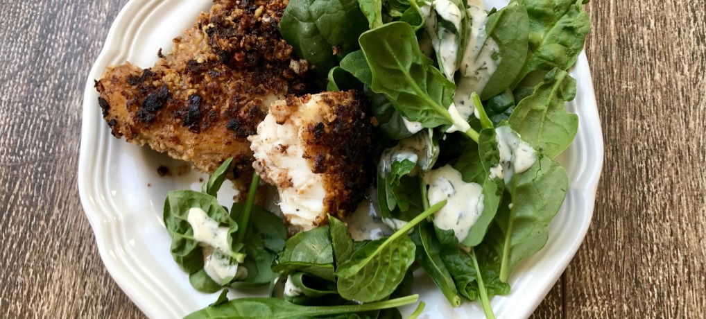 Pecan-Encrusted Red Snapper (Paleo and Whole 30)