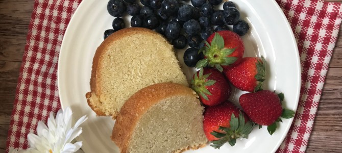 Grandmother's Pound Cake Made Gluten Free
