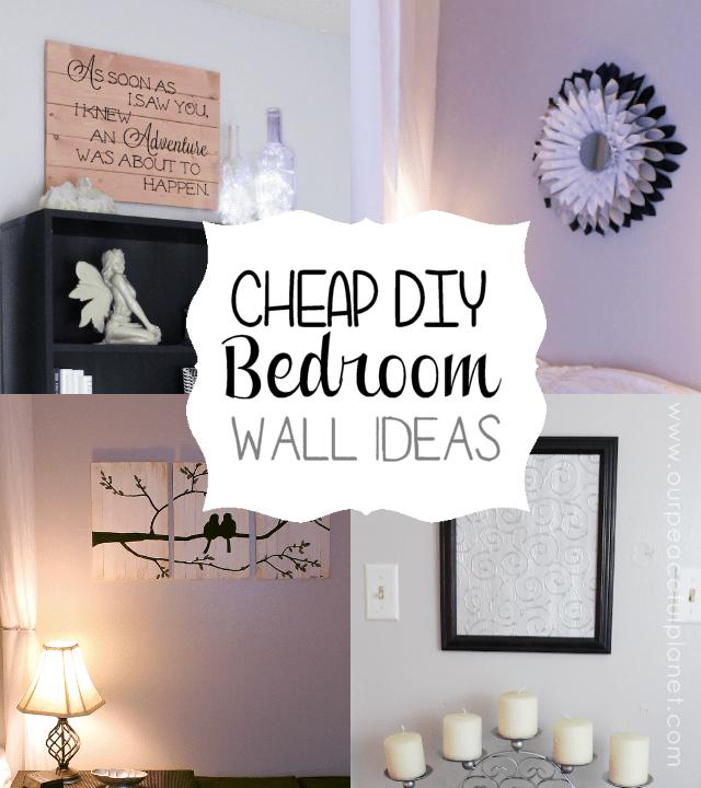 Cheap & Classy DIY Bedroom Wall Ideas on Cheap Bed Ideas  id=24665