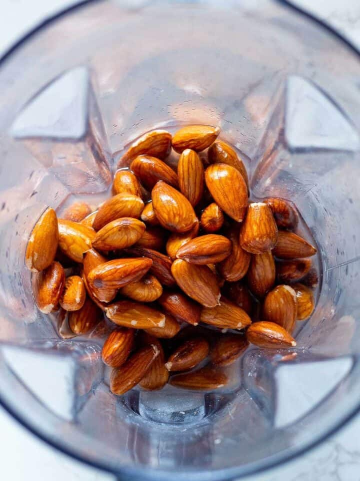 Almonds in a blender